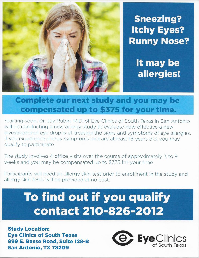 Allergy Study Starting Soon